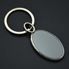 Cheap Oval Shape Two sides Custom Logo Giveaway Promotion Keychain