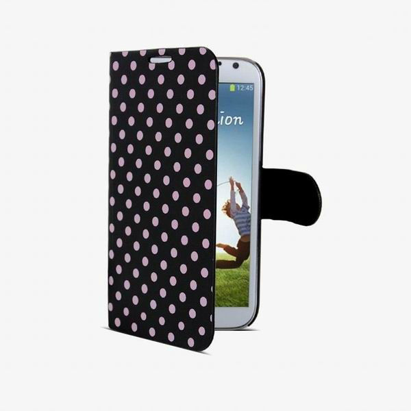 Polka Dot Spots Flip PU Leather Case Cover Wallet Pouch Holder Skin for Samsung Galaxy S4 IV i9500