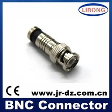 RG6 RG59 CCTV bnc f connector, compression type, zinc and brass optional