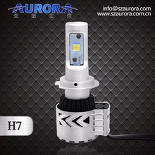 super quality 6000lm Aurora H7 led headlight high powerful cree led headlight bulbs./