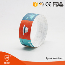 High Quality Personalized Custom Tyvek Wrist Band For Night Club Halloween Party
