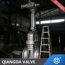 Motorized gate valve 900mm pn16 a216 wcb rising stem