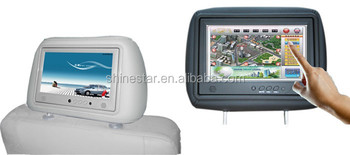 3G wifi wireless network Android OS 9 inch taxi headrest LCD advertising display with capacitive touch screen function