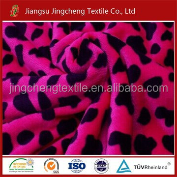 Printed coral fleece fabric environment-friendly wholesale cow print fleece fabric JC04106