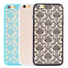 Fashion Touch Series Propitious Pattern Relief Housing PC Shockproof Rubber Back Cover Case For iPhone 6/6s TB-0103