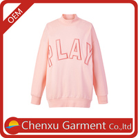 new autumn 2016 pink letter embroidered loose hoodies women pullover www sexy girl com