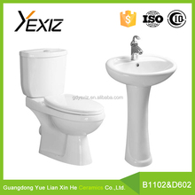B1102 & D601 wholesale complete ceramic bathroom set,chaozhou bathroom sanitary ware wc set