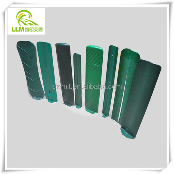 Direct manufacture fiberglass leafs shape freeway safety FRP anti glare panels anti-dazzle screen