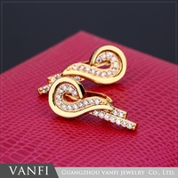Fashion high quality cheap dubai 24k gold plated vogue jewelry earrings