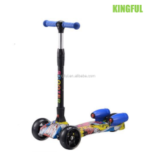 2017 new hot sale Jet children kick scooter with music