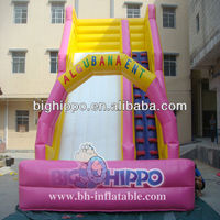 popular high quality 0.55 mm PVC inflatable water slide for kids and adults