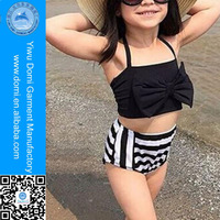Domi 3-10 Y Big Girls bathing suit two Pieces Bow Swimwear Sexy Kids Bikini