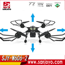 New Drone W606-2 4CH 2.4G FPV RC drone professional with hd adjustable camera 3D Roll Quadcopter Model Toys VS JJRC X1 X8W