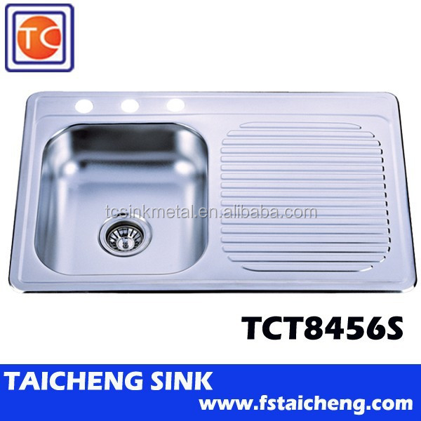 TCT8456S Kitchen Sink with Stainless Steel Dish Drainer