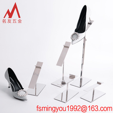 Anti-theft security factory direct stainless steel shoe display stand in super mall