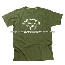 Mens olive green t shirt with horse print