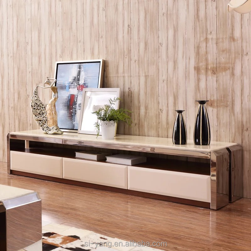 Popular stainless steel tv cabinet from china