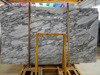 Top quality Arabescato white finished marble slabs
