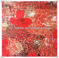 polyester and spandex burnout korean velvet fabric for garments