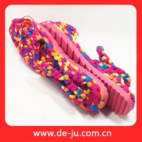 Manufacture Polyester Rope Handmade Relax Sandal
