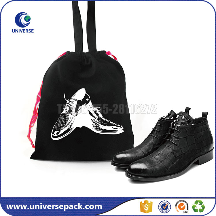 Wholesale handled cotton multiple shoe bag with drawstring