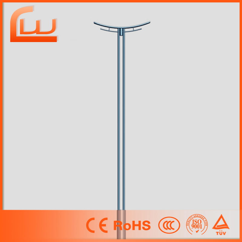 Electric lamp wholesale galvanized steel street light pole