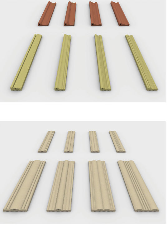Decorative Clay Pipe : Outdoor decorative clay wall rods terracotta louvers