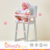 Olivia's Little World - Baby High Chair (Grey Polka Dots) | Baby Doll Furniture