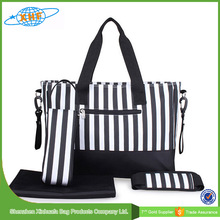Professional Stripe Printing Baby Diaper Bag with Mummy Bags