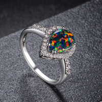 Mixed-Color Indian Jewelry Ring Stone Opal Stone Price Opal Ring