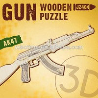 Adults toy gun DIY wooden puzzle toys