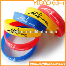 Promotion Custom cheaper new design adjustable silicone wristband /bracelet with fulled printing color