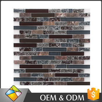 Wholesale 300x300 Free Sample Products House Design Cracked Glass Mosaic Tiles