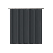 Black solid color PEVA custom wholesale shower curtains