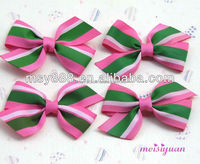 Colorful Stripe Color Stay Grosgrain Ribbon Bow for Hair Clip