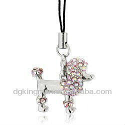 Fashion Rose Gold Austrian Crystal mobile phone key chain