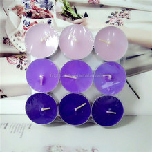 9pcs/set mini colored tealight candle scented tea light