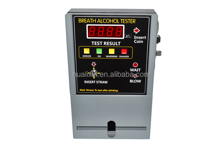 2017 CE&ROHS Approved Coin Operated Breath Alcohol Tester AT-819/Coin Operated Machine for BAC&BrAC Test