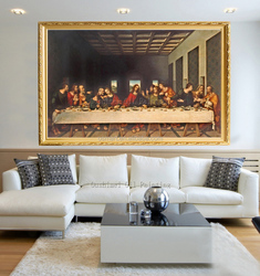 Professional Artist Handmade High Quality Classical Europe Jesus The Last Supper Oil Painting On Canvas For Wall Decoration