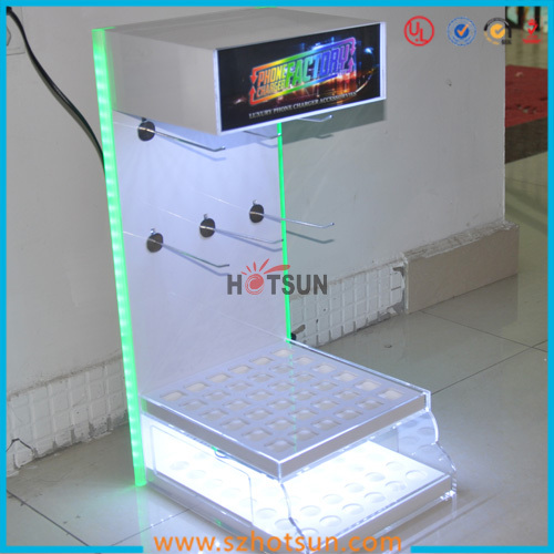 China Supplier Countertop Display Cases Mobile Phone Accessory Stands Wholesale Acrylic Cell Phone Accessory