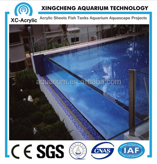 Factory direct sale transparent acrylic glass swimming pool