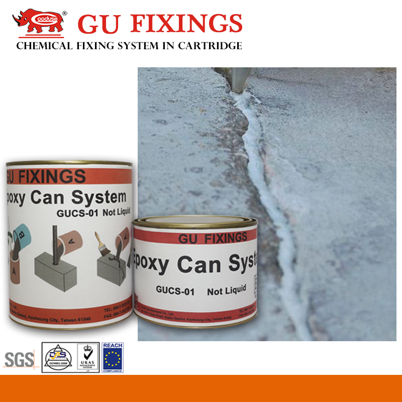 two component epoxy raw material for repairing holes and concrete cracks