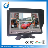 rearview mirror car monitor with 7 tft lcd mounted on dashboard
