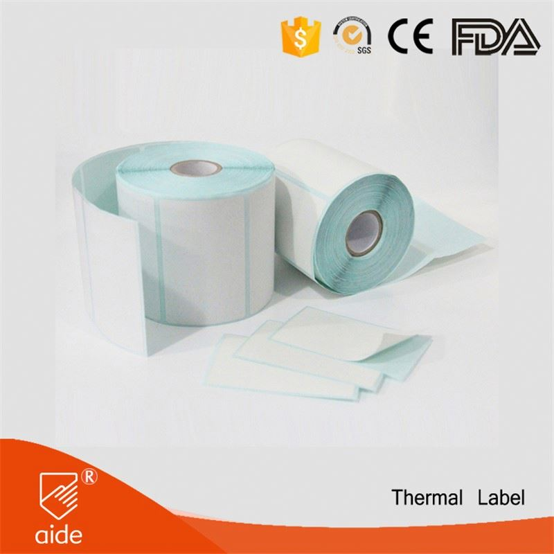 Waterproof Customized Roll Adhesive Thermal Sticker Labels Blank