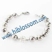 fashion style stainless steel bead design wholesale shamballa bracelet