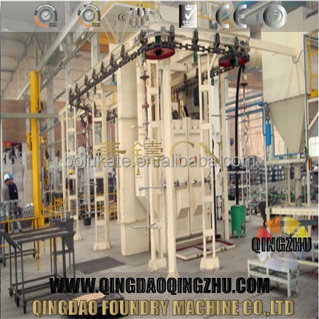 Catenary Shot Blasting Machine For Frame Of Bicycle