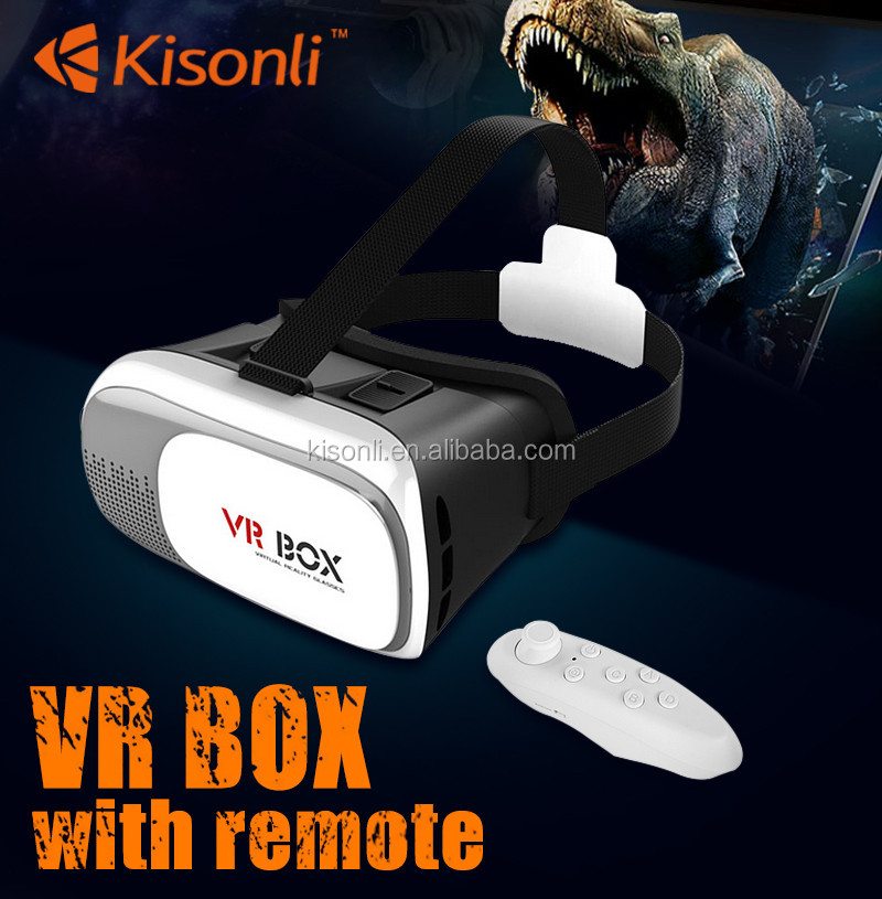 Stylish VR Headset 3D cinema Virtual Reality 3D Glasses VR Box 2.0 With Bluetooth Gamepad
