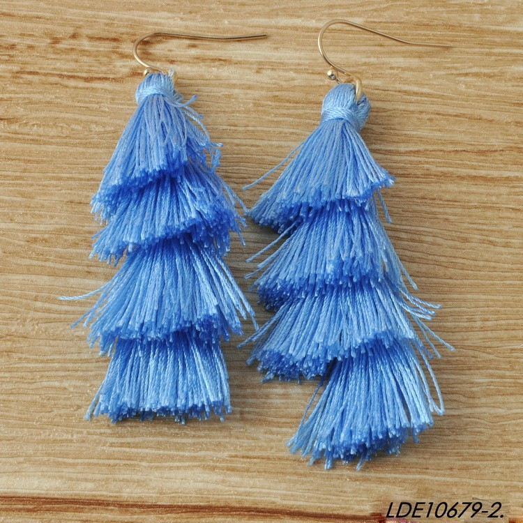 New Arrival 2017 Fashion Multi layer Tassel Earrings