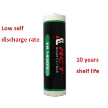 2/3AA 3.6V ER14335 ACT Lithium Battery, 2700 mAh Nominal Capacity Environmental.