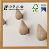 FSC&SA8000 manufacture new design Best Selling China Wooden Coat Hooks Wall Mounted